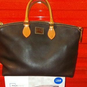 """Dooney and Burke 14""""X16"""" bag leather"""
